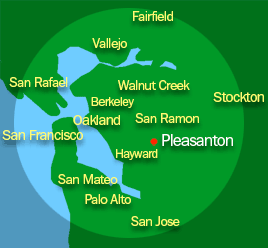 mapof service area: East San Francisco Bay